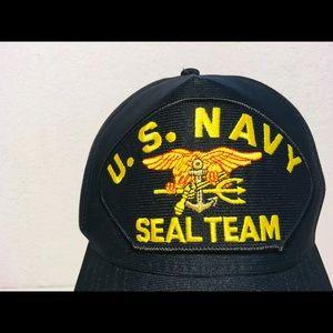 817f9be0 eagle crest Accessories - U.S. Navy Seal Team Hat, Snapback, Eagle Crest USA